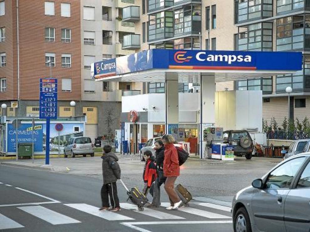 La estación de servicio se encuentra ubicada en el paseo de Ramón y Cajal.