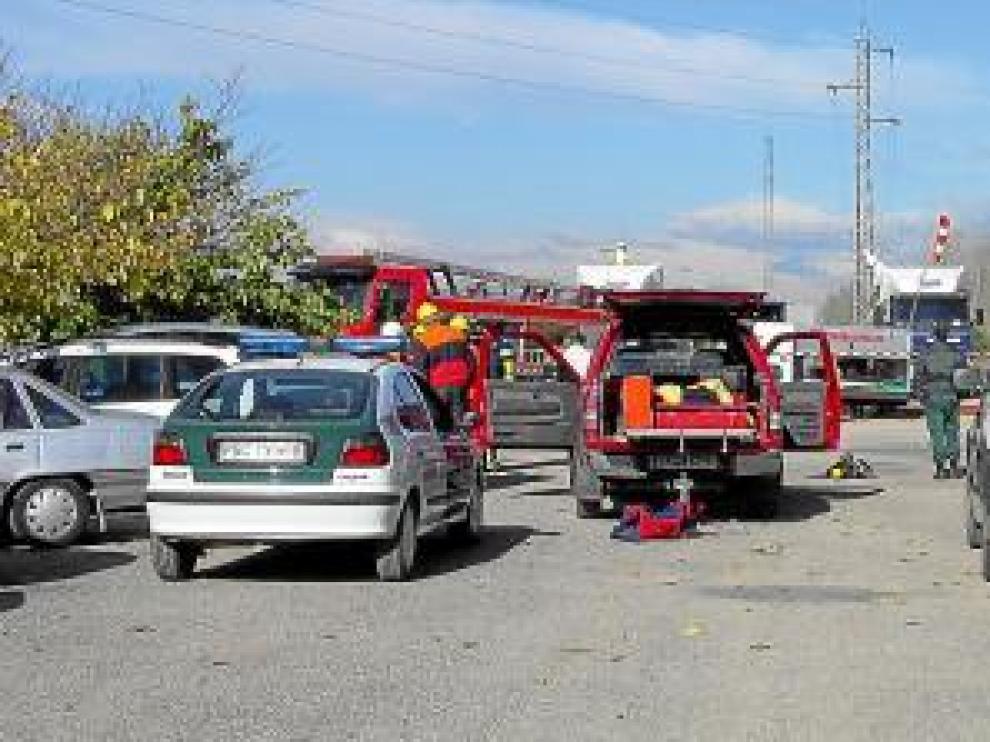 Imagen de un simulacro del servicio de Protección Civil.