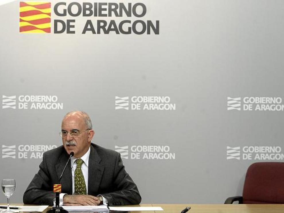 Alberto Larraz, consejero de Economía del Gobierno de Aragón.