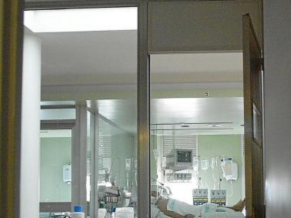 En la foto, parte de las instalaciones de la uci de Teruel.