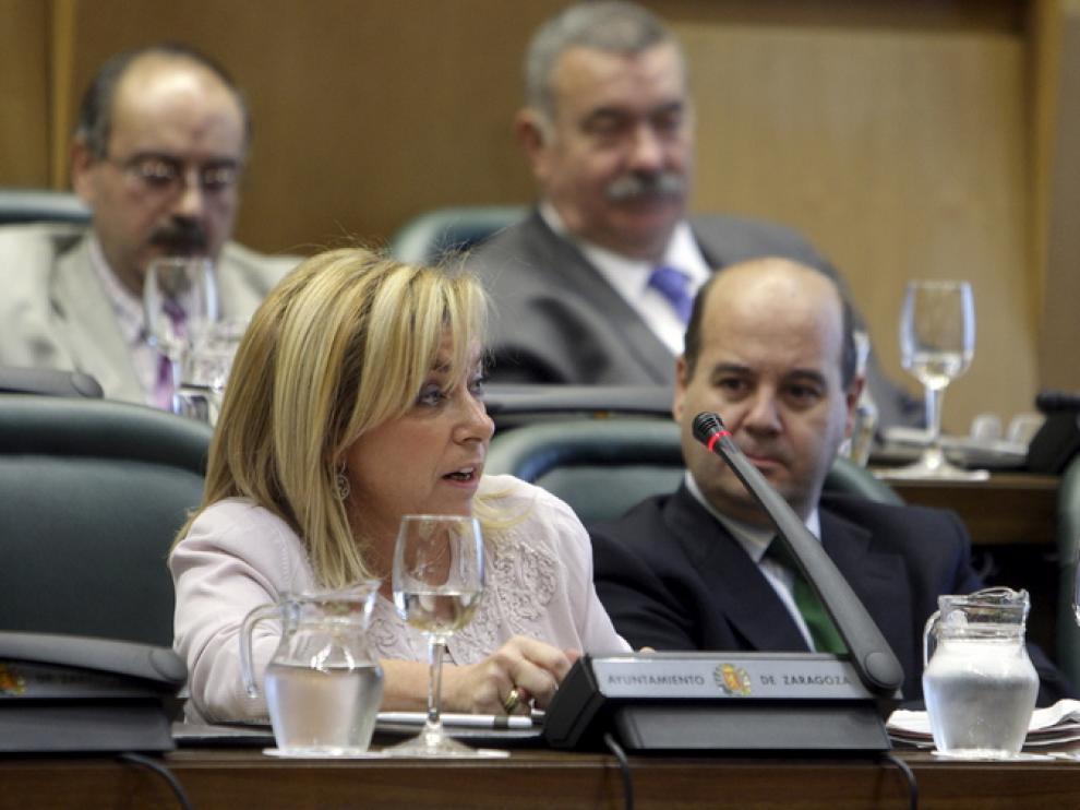 La portavoz del grupo municipal del Partido Popular en Zaragoza, Dolores Serrat