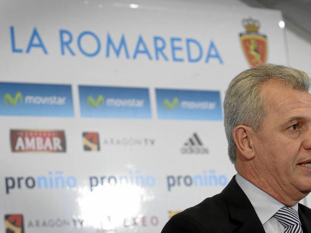 Javier Aguirre, durante la rueda de prensa de ayer