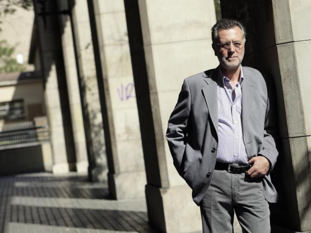 Manuel Castán, presidente de la Academia de l'Aragonés.