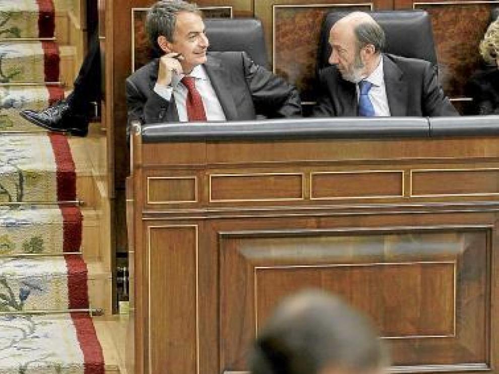Zapatero y Rubalcaba.