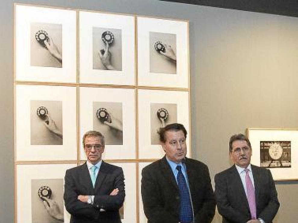 Cesárep Alierta, Jerónimo Blasco y Manuel Teruel, en la inauguración.