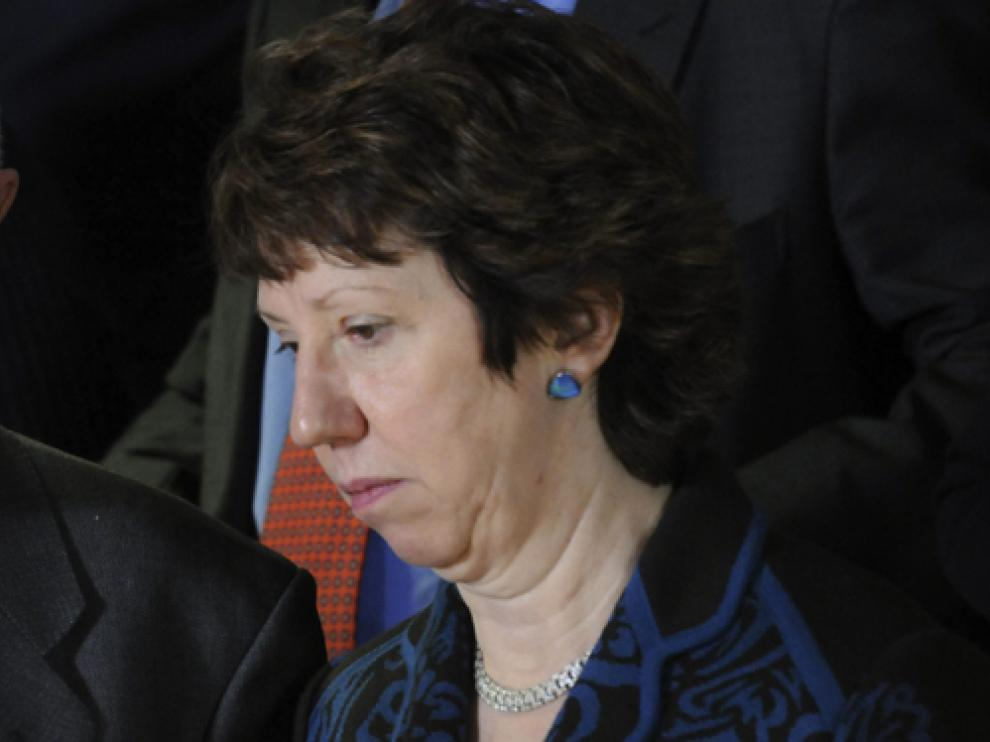 La alta representante europea, Catherine Ashton