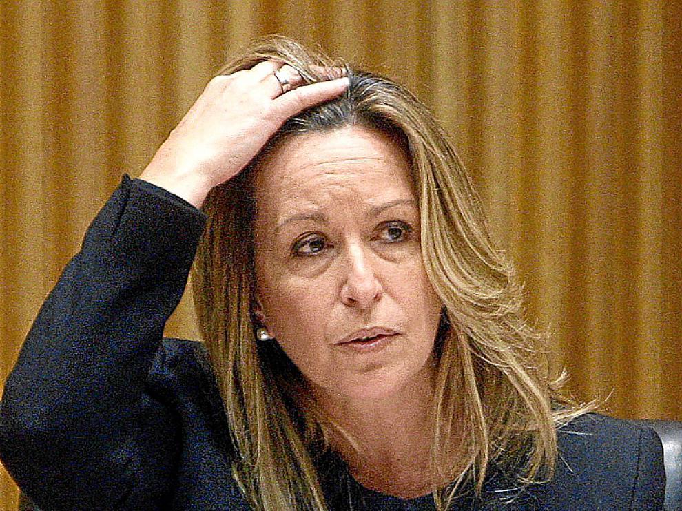 Trinidad Jiménez en el Congreso.