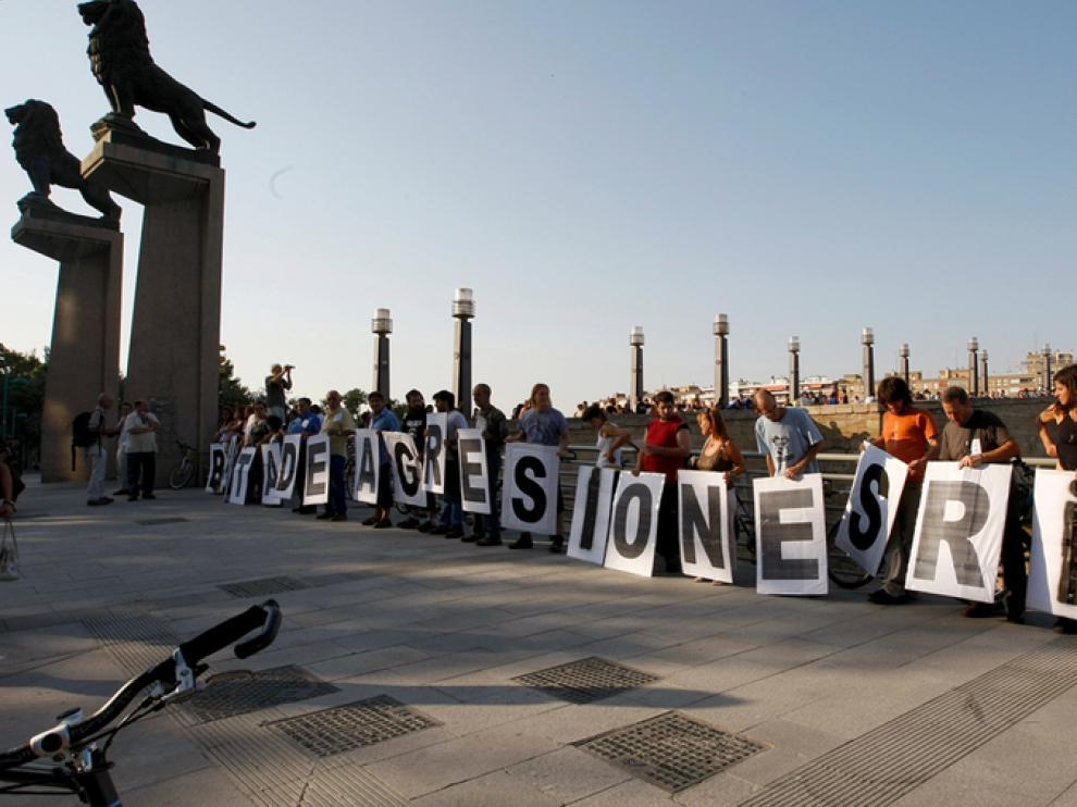 Manifestación contra el rebaje de la solera.