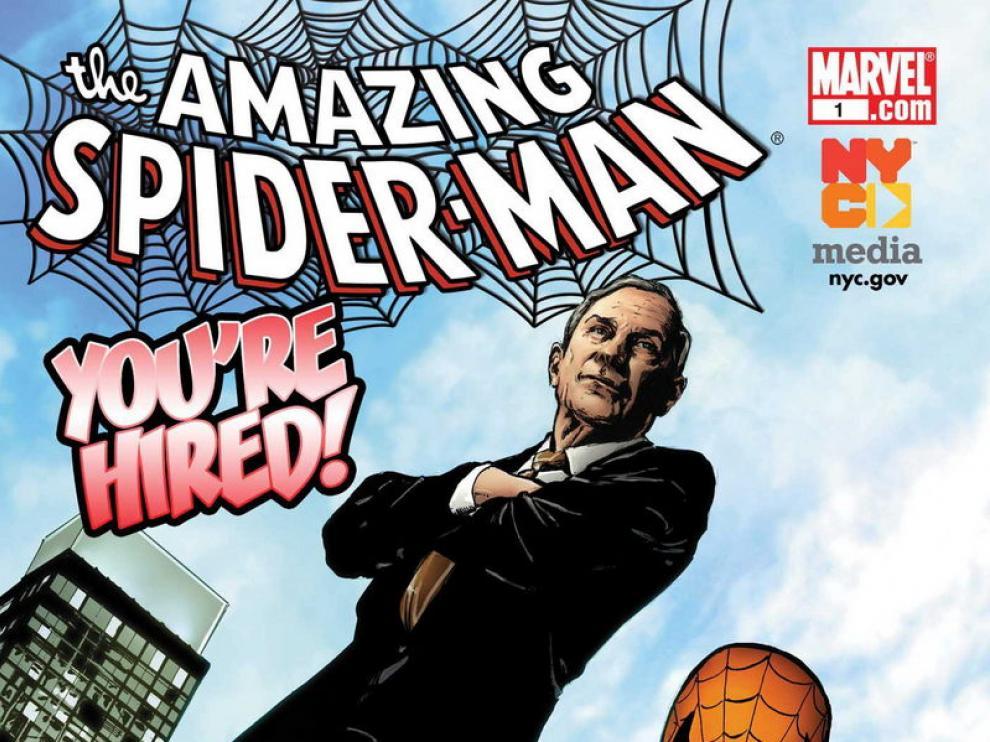 Portada del número especial 'Spiderman, You're Hired!', lanzado para luchar contra el desempleo