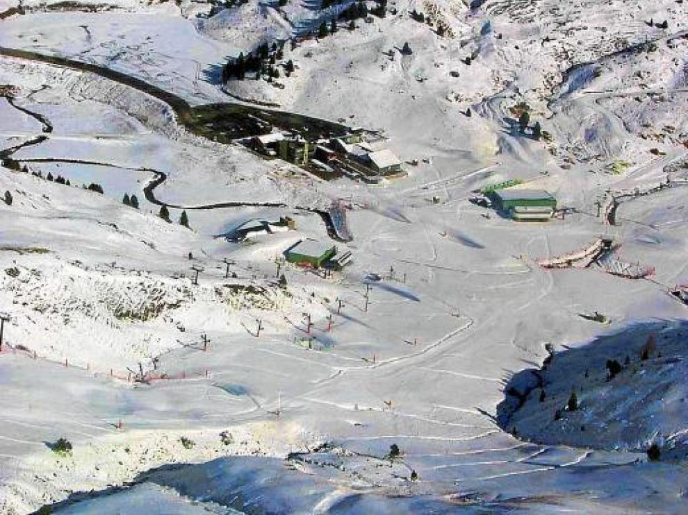 Imagen del jueves de la estación de esquí de Cerler.