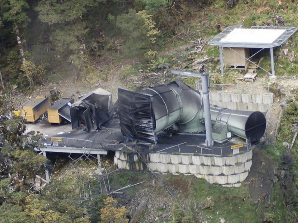 La mina de carbón en la que han quedado atrapados los mineros neozelandeses, hoy