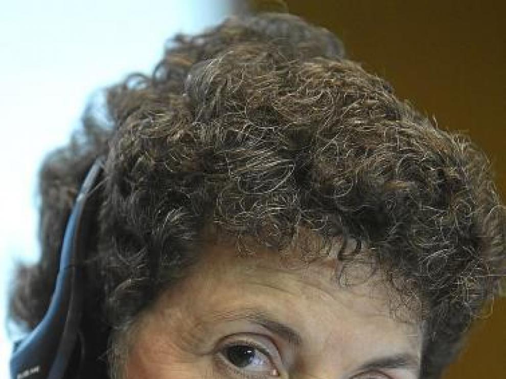 Audrey Cronin, el lunes durante su intervención en la Aljafería.