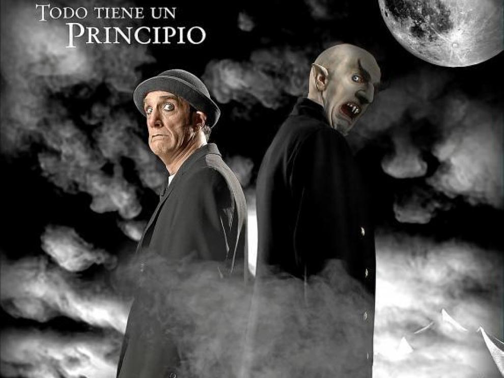 Suso Silva, en las dos caracterizaciones que luce en el 'Circo de los horrores'.