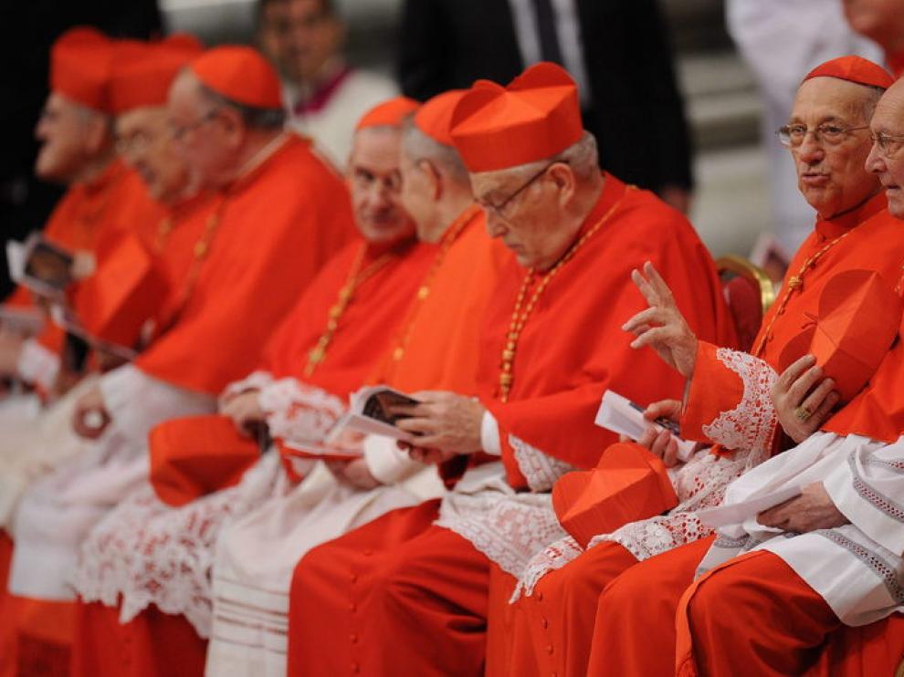 Algunos de los nuevoc Cardenales, hoy en el Vaticano