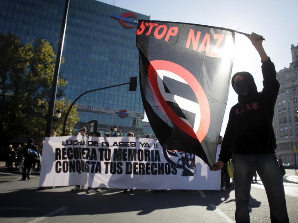 La cabecera de la manifestación