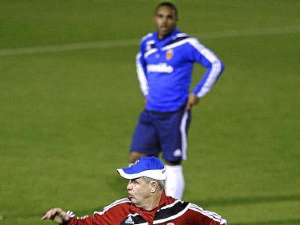 Aguirre, en un instante de su primer entrenamiento al Zaragoza.