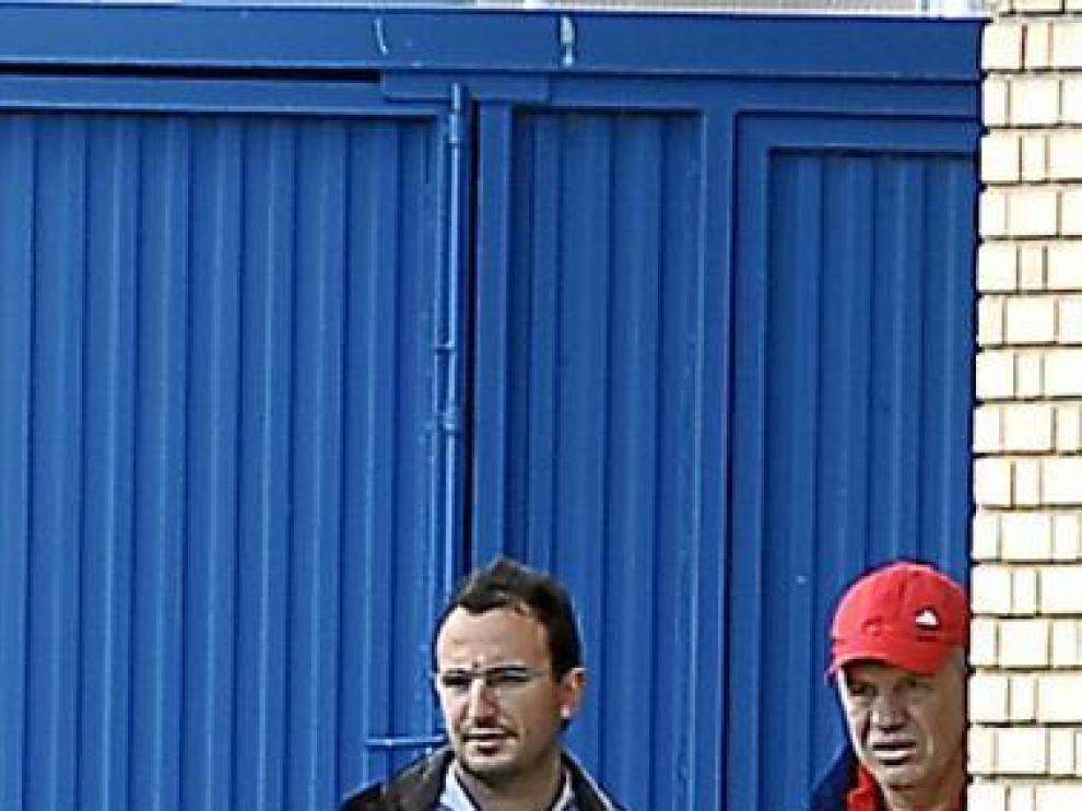 Javier Aguirre observa el partido de los juveniles.