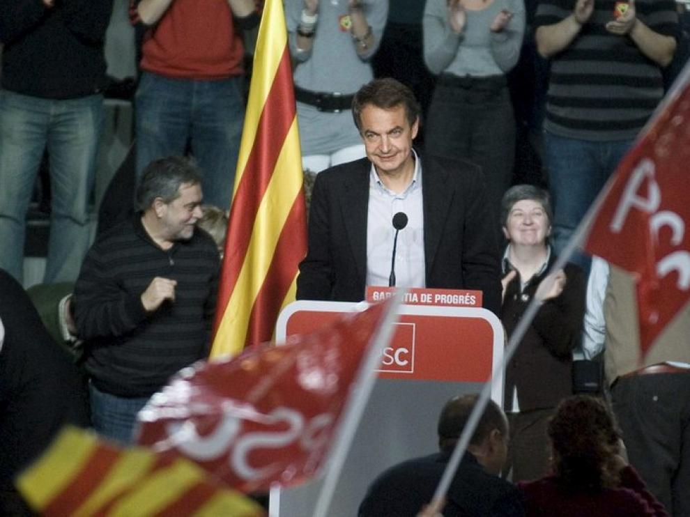 Zapatero, en un acto preelectoral en Lérida