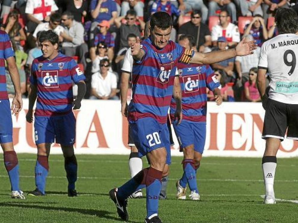 Sebas Corona, en el partido contra el Salamanca de esta temporada.