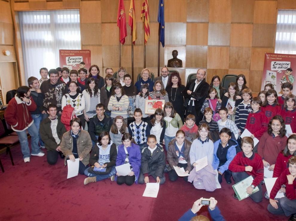 Pleno infantil en el Ayuntamiento de Zaragoza