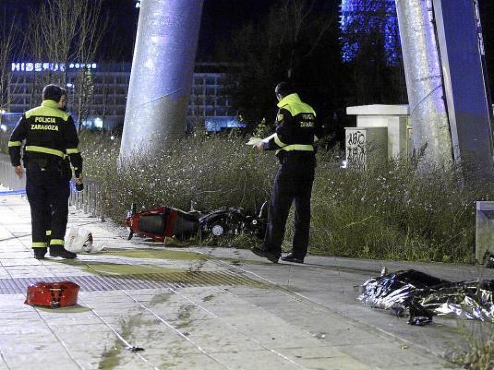 El último accidente mortal con un motorista como víctima se produjo el domingo en Zaragoza.