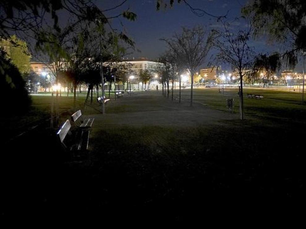 El parque de los Tapices, en Parque Goya II