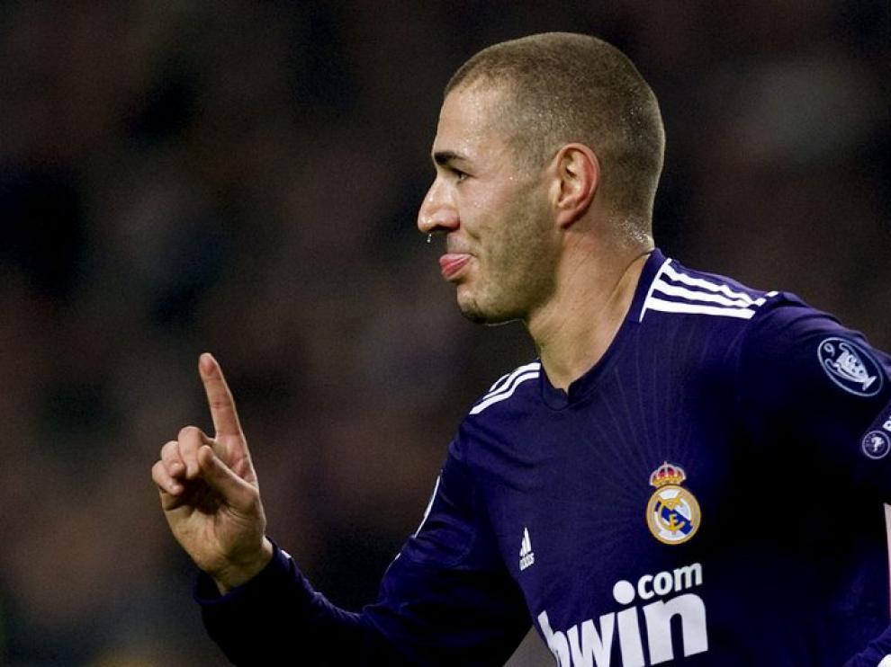 Benzema, autor del primer gol del Madrid
