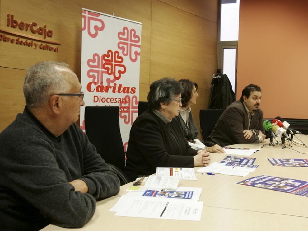 Rueda de prensa de Cáritas en Ibercaja