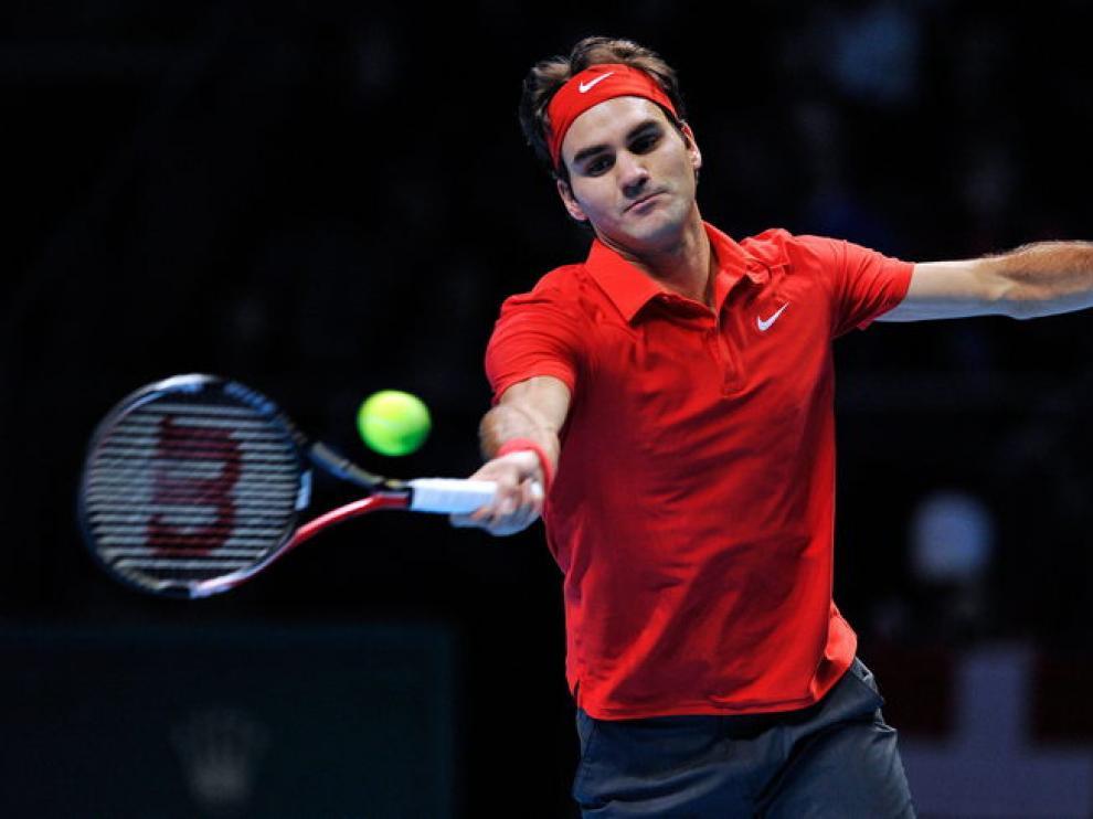 Federer en el O2 londinense.