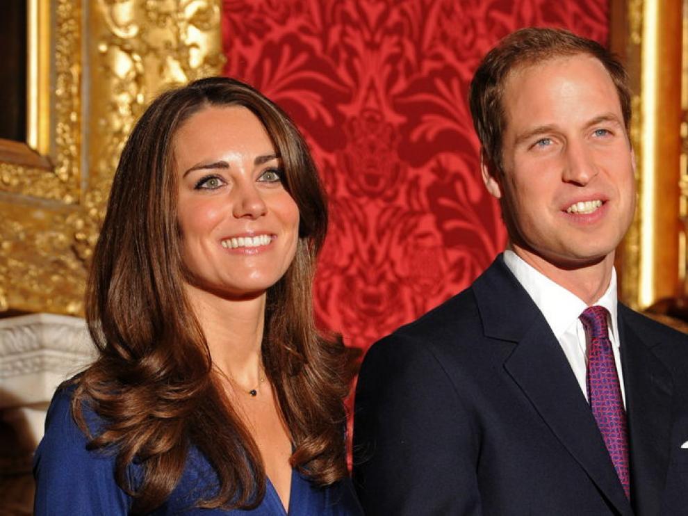 El príncipe Guillermo y su novia, Kate Middleton