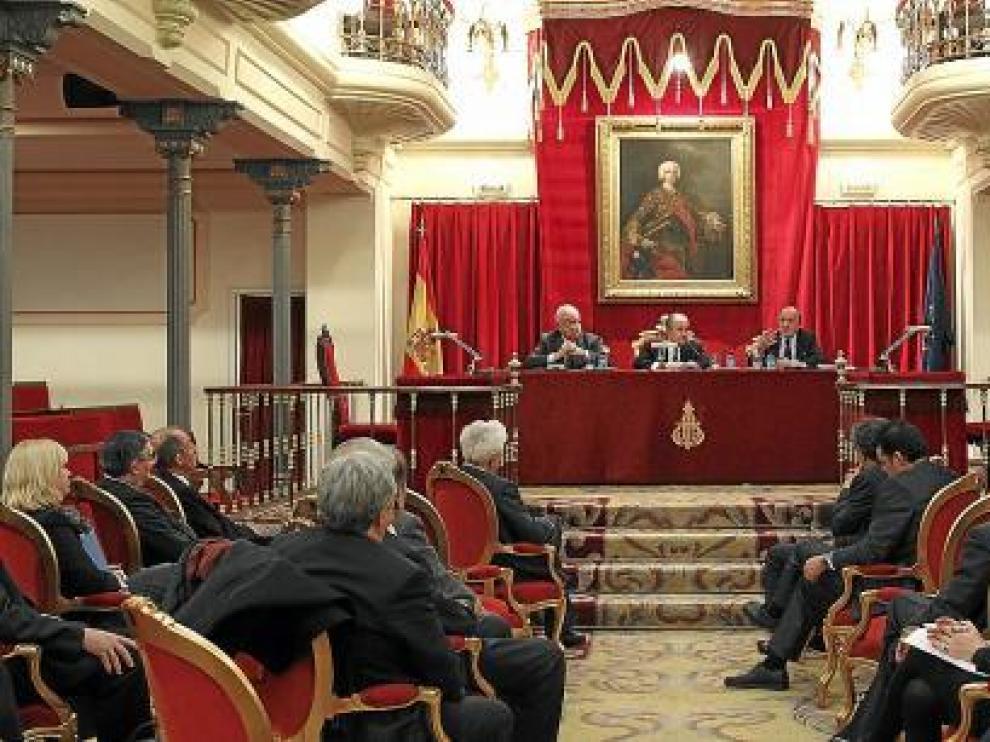 El acto se celebró en la Real Academia de Jurisprudencia y Legislación.