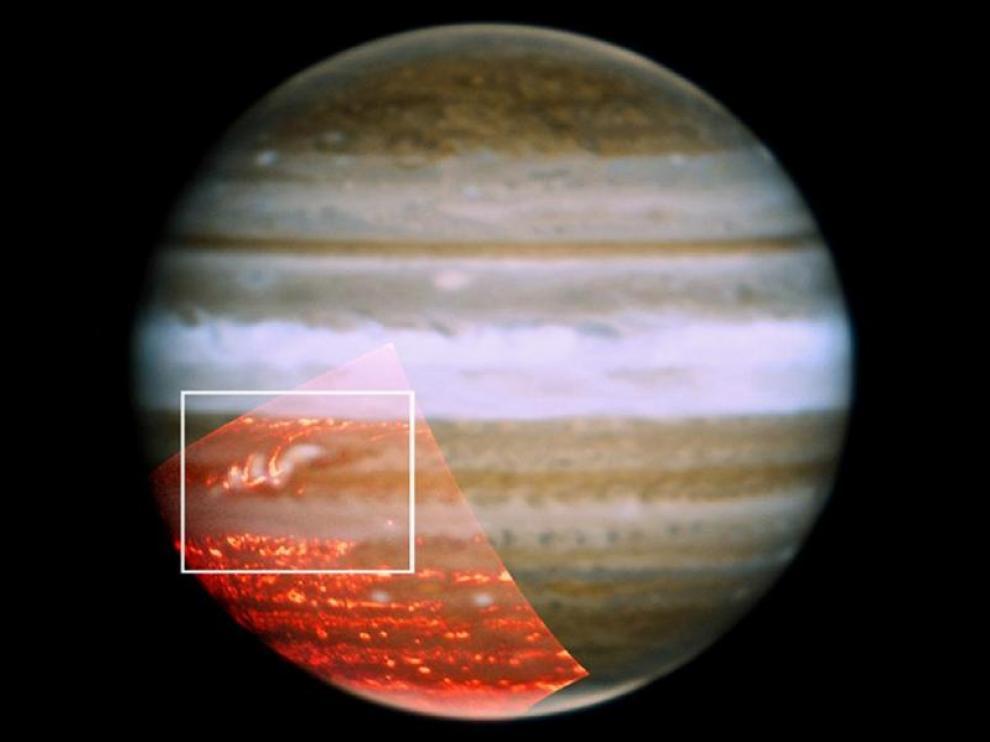 Área de Júpiter estudiada.