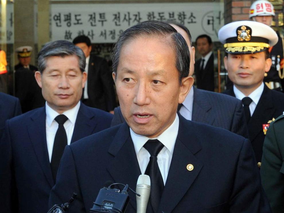 El hasta ahora minitros de Defensa surcoreano, Kim Tae-young