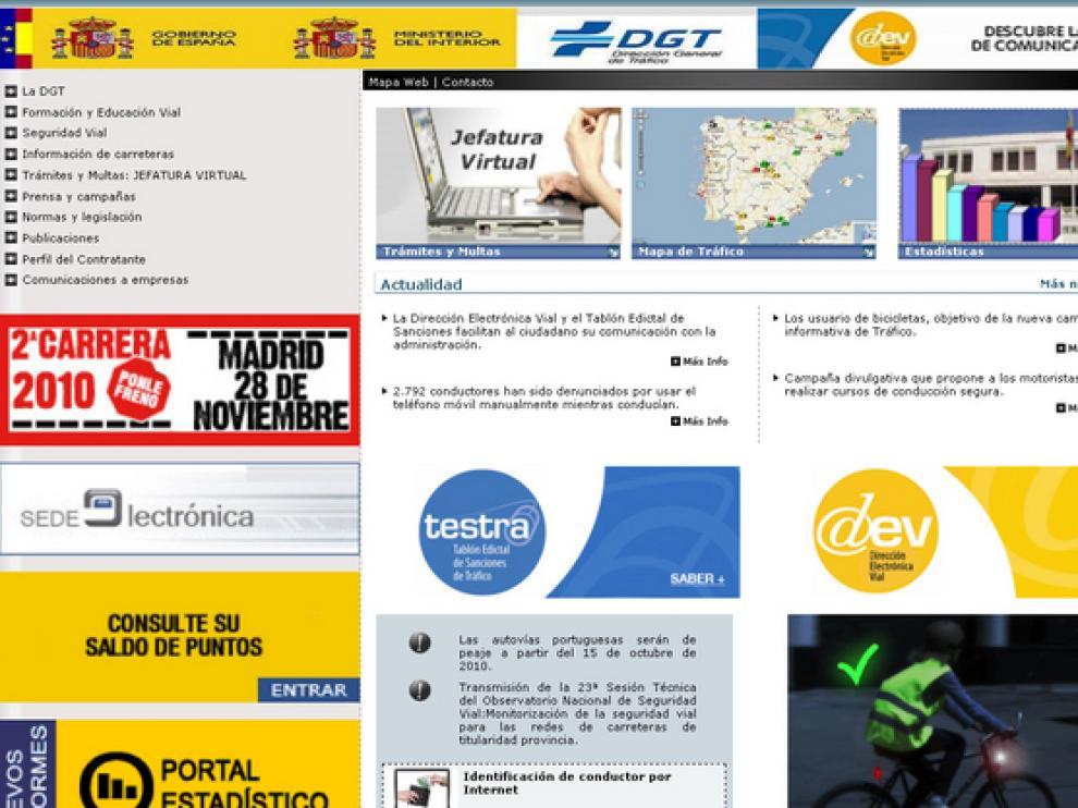 Los nuevos servicios son accesibles a traves de la web de la DGT.