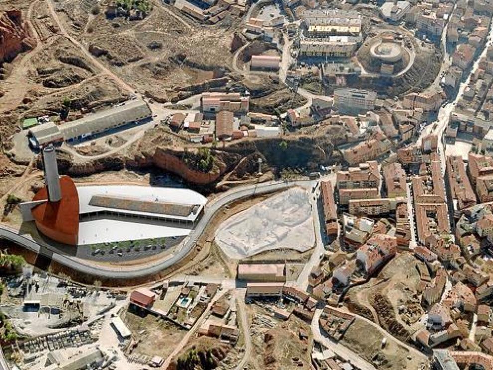 En la parte izquierda de la recreación infográfica se observa lo que sería el museo de alfarería.