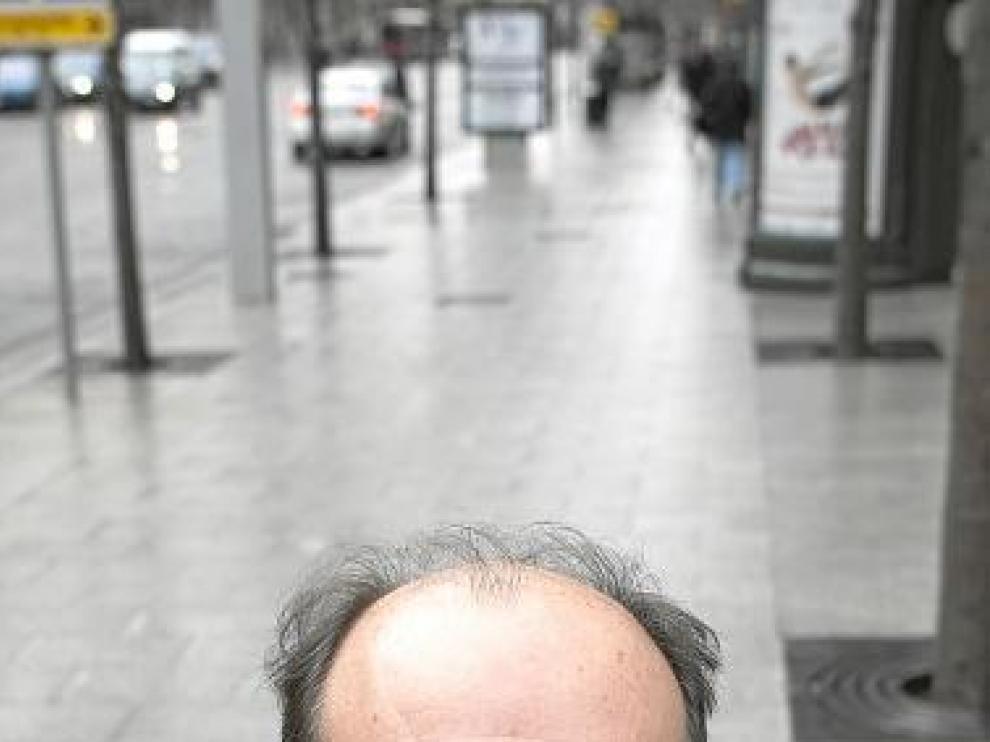 Carlos Taibo, la semana pasada en Zaragoza.
