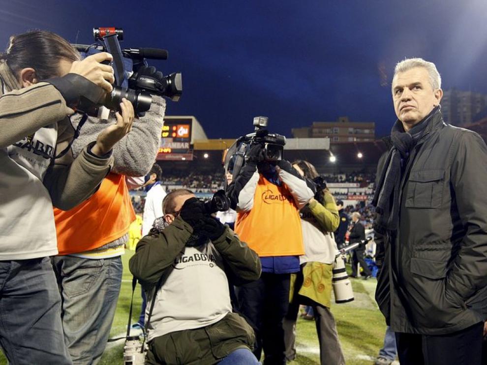 El entrenador durante el partido.