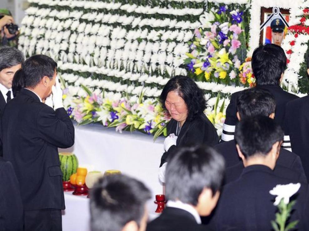 Funeral por las víctimas de los ataques en Seúl