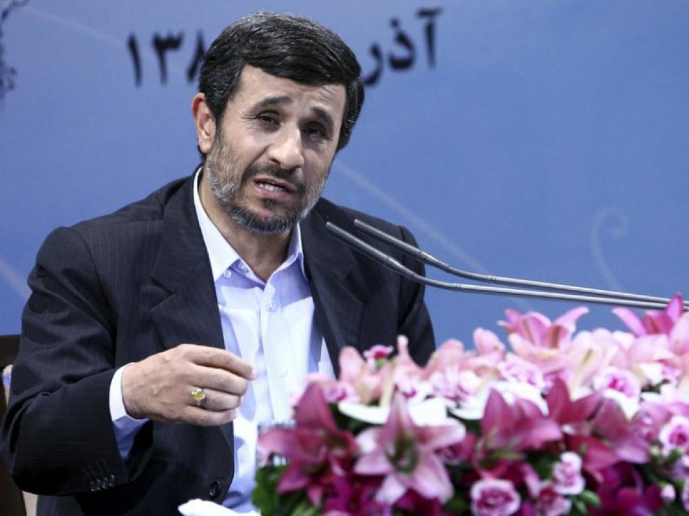 Ahmadineyad, durante una rueda de prensa.