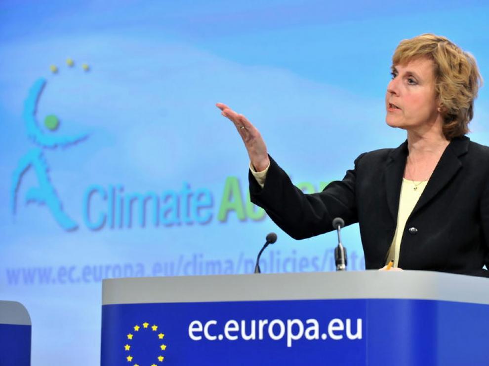 Connie Hedegaard, comisionada europea de Acción por el Clima.