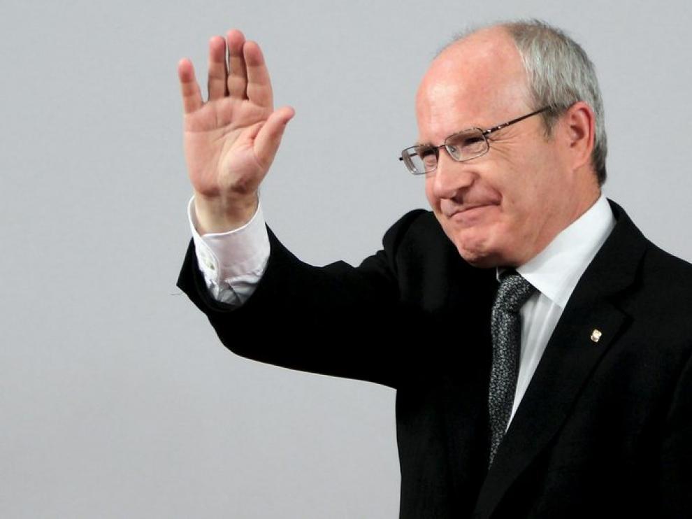 José Montilla en la sede del PSC, después de conocer los resultados de las elecciones