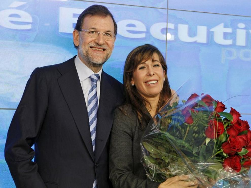 Mariano Rajoy, junto a Alicia Sánchez Camacho