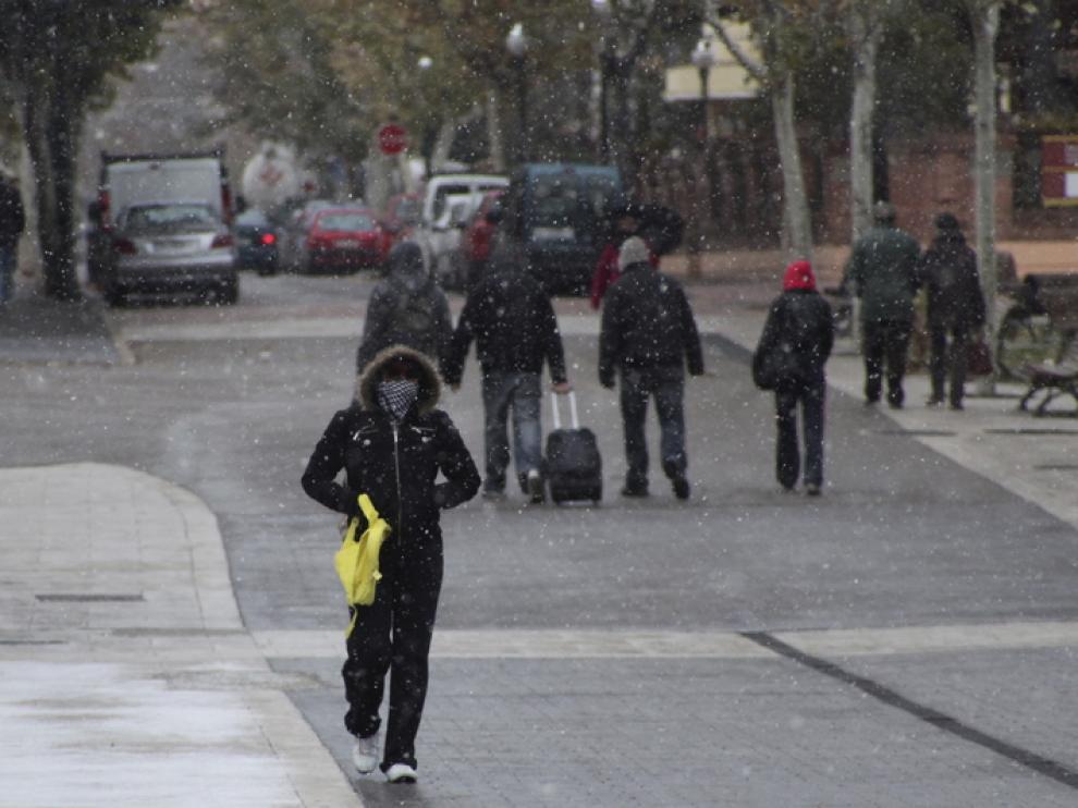 Hoy ha nevado en Teruel