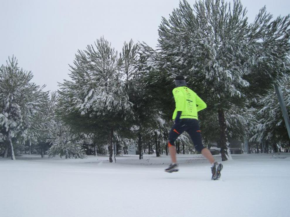 Alfonso García nos envía esta foto de la nevada caída hoy en La Muela