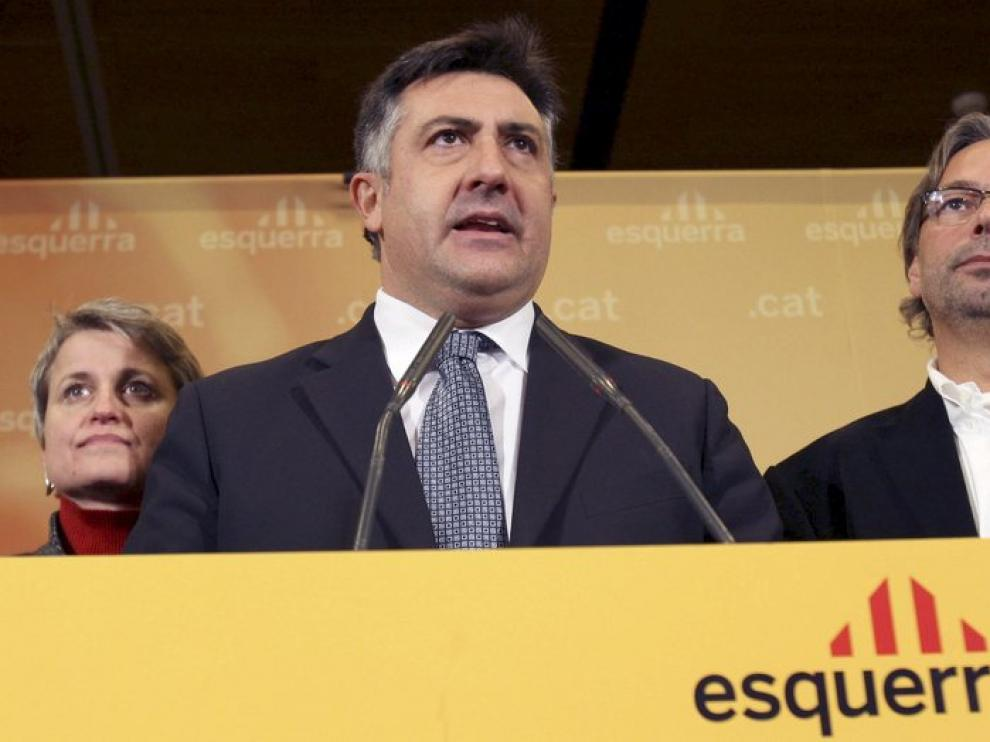 Puigcercós comparece tras su derrota en las urnas.