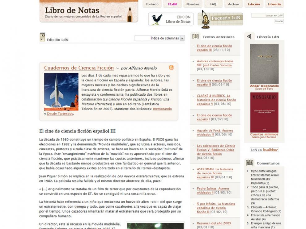 'Libro de notas' repasa la historia del cine de ciencia ficción español