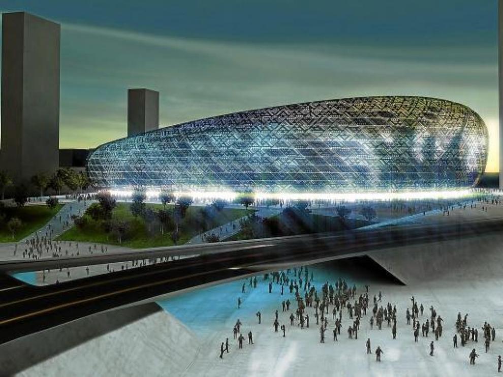 Proyecto para el nuevo estadio de Zaragoza.
