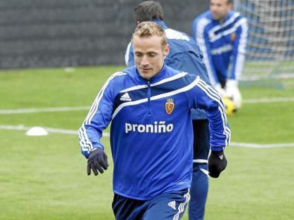 Jiri Jarosik en un lance del entrenamiento.