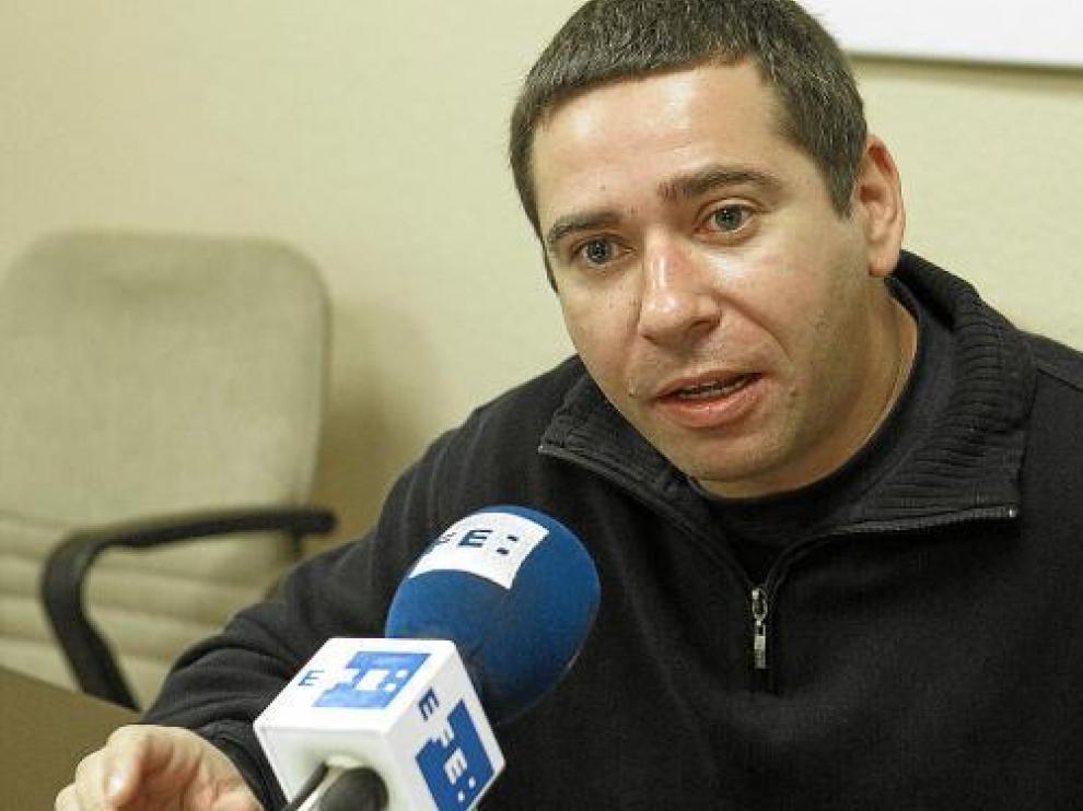 Javier Couso, hermano del cámara de Telecinco José Couso, ayer.