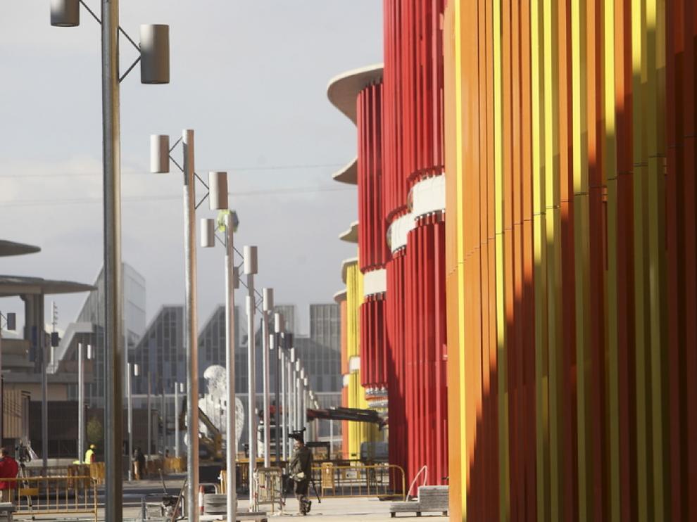 Aspecto de las obras en Expo Empresarial